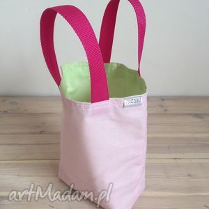 torebki lunchbag by wkml różowa limonka, lunchbag, śniadaniówka, śniadanie, torba