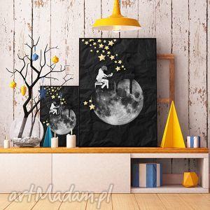 grafika art print a4, grafika, ilustracja, plakat, pianista, gwiazdy, fortepian