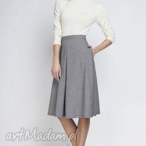 spódnice spódnica sp110 pepito, elegancka, rozkloszowana, kontrafałda, kobieca