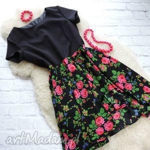 sukienki sukienka góralska w kwiaty folk, sukienka, góralska, kwiaty, cleo