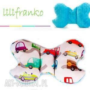 poduszka podróżna auta turkus, poduszka, podróżna, motylek, niemowlęca