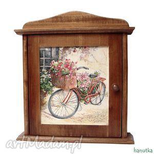 rower - szafka na klucze, prezent, schowek, klucznik, skrzyneczka, klucz, romantyczne
