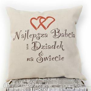 hand-made poduszki poduszka,, najlepsza babcia i dziadek na świecie