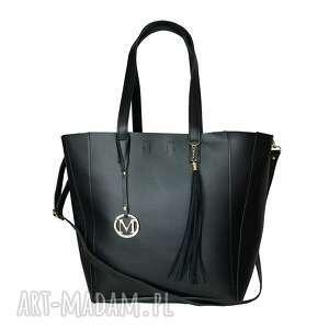 ręcznie robione torebki manzana duża torba klasyczna 2w1 czarna klasyczna
