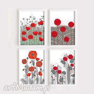 zestaw 2 prac a3 maki, kwiaty, obrazek, plakat, obraz, rysunek