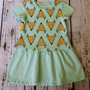 ubranka sukieneczka - lisk na mięcie, sukienka, sukieneczka, liski, mięta dla