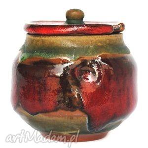 miodzcu ii - ceramiczny pojemnik, cukiernica, cukierniczka, naczynie