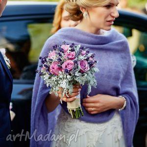 poncho z jedwabnego moheru, poncho, ślub, moher, jedwab, handmade, sweter ubrania