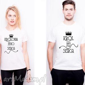 koszulki dla par królowa jego serca król jej serca, love ubrania