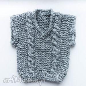 ubranka kamizelka niemowlęca 0-18 m, kamizelka, sweterek, chłopiecy, niemowlęcy