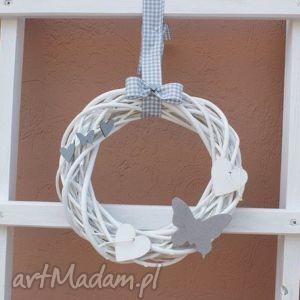 święta prezent, dekoracje wianek ozdobny, wianek, na, drzwi, okno, piękny