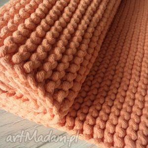 pomarańczowy dywan ze sznurka , dywan, pomarańczowy, bawełniany, sznurek, druty