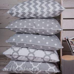 Poszewka na poduszkę szara - 5 wzorów do wyboru, poduszka, szara, chevron, scandi