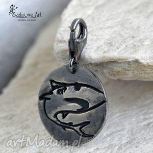 męska rekin - brelok, charms, srebro, męski, prezent, biżuteria