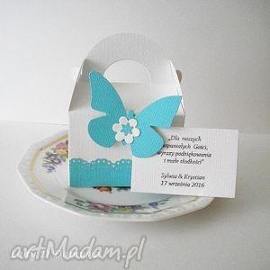 Prezent Komplet pudełeczek dla gości /na upominki słodkości, ślub, wesele, goście