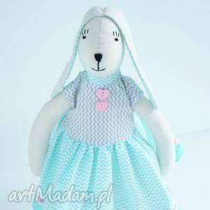 zajĄc w sukience - tilda, zając, wielkanoc, dziecko, maskotka, zabawka