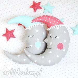 księżyc poduszka, ozdoba ściany, zabawka, dekoracja, księżyc, gwiazdy
