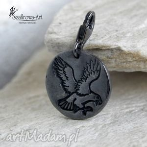 orzeł - brelok, orzeł, srebro, charms, prezent, męski biżuteria