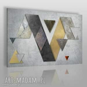 obraz na płótnie - beton kształty 120x80 cm 44101 , beton, kształty, geometryczny