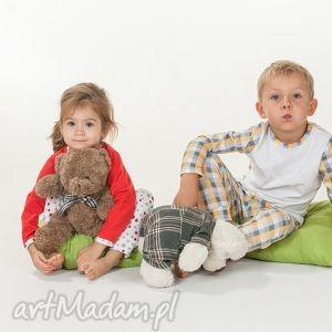 sweet dream - piżamka leniwe groszki, piżamka, czerwona, dziewczęca