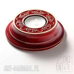 lampion corda czerwony, lampion, świecznik, ceramiczny, dekoracyjny, ozdobny ceramika