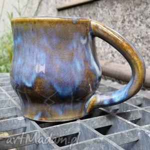 filiżanka jasno niebiesko brązowa 1 , filiżanka, kubek, ceramika, ceramiczny, glina