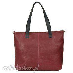 Prezent wygodna torba na ramię ze skóry , torba, torebka, handmade, prezent,