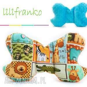 dla dziecka poduszka podróżna safari turkus, poduszka, podróżna, motylek, niemowlęca