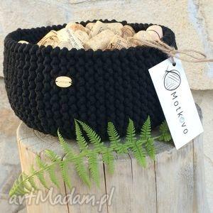 Kosz/misa mini Be Black, kosz, handmade, ręcznierobiony, przechowywanie, organizacja