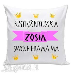 poduszka z dowolnym imieniem, poduszka, imię, prezent, księżniczka dom