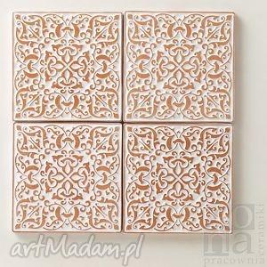 ceramika kafle 10cm adagio białe, kafle, dekory, ceramiczne, ścienne, handmade