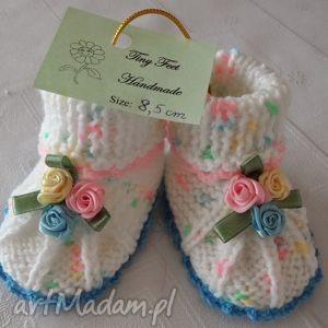 buciki niemowlęce - wiosenne kwiaty, buciki, kapciuszki, dziecięce