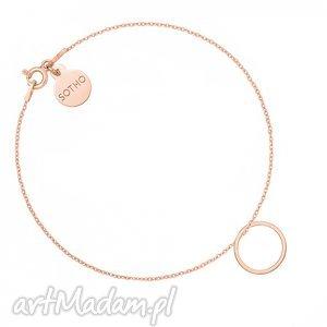 hand made bransoletki bransoletka z różowego złota z karmą