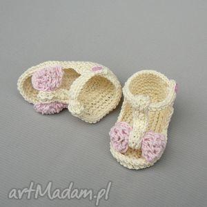 sandałki malaga, noworodek, prezent, dziecko, chrzest, lato, buciki