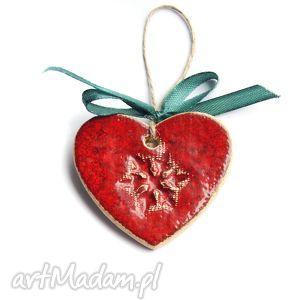 dekoracje śnieżynka ceramiczne serduszko, święta, gwiazdka, choinka