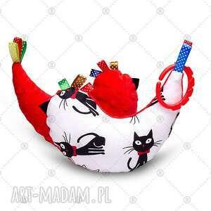 maskotki kurka przytulanka sensorek maskotka minky - czarne koty, dla dziecka