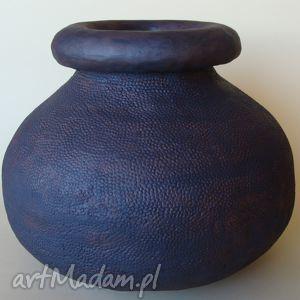 wazony wazon ceramiczny, wazon, rustykalny, antracytowy dom