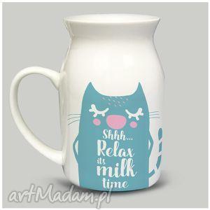 hand-made kubki bańka relax its milk