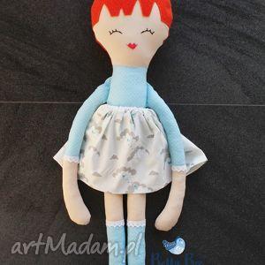 Ogromna lalka, 75 centymetrów, ruda modeleczka, laleczka szmacianka., lala,
