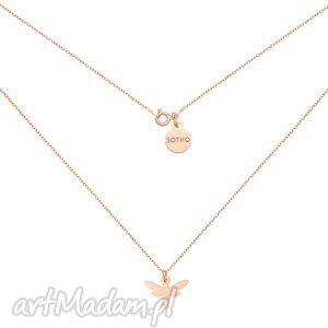naszyjniki naszyjnik z ważką różowego złota, naszyjnik, ważka, rożowe, złoto