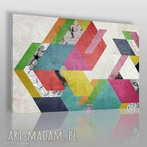 obraz na płótnie - kolory kształty 120x80 cm 48001 , kolorowy