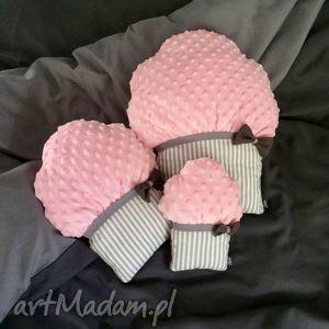poduszki muffinki - muffinki, poduszki, przytulanki, dekocacyjne, minky, dziewczynka