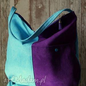 na ramię torba hobo z kieszenią, torebka, hobo, łowicki, wzór, prezent, ekozamsz