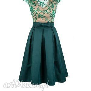 monnom boutique sukienka rozkloszowana z haftowaną koronką zl, sukienka, wesele