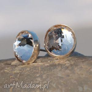 D054 Drobinki srebrne z kryształami Swarovskiego , kolczyki, swarovski