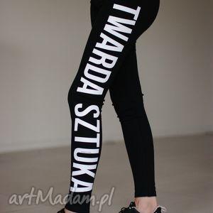 legginsy do biegania ćwiczeń czarne getry , redmasterclothes, modne, bawełniane