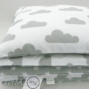pokoik dziecka 90x120 pościel do łóżeczka 2 el chmurki gwiazdki, poszewki
