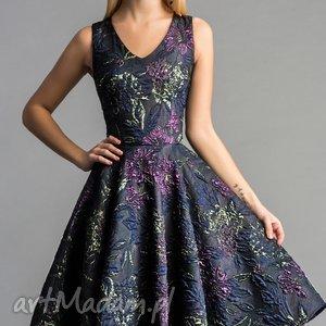 Sukienka GINA (Koło) Midi Tiara, sylwestrowa, midi, tiul, roszkloszowana, błyszcząca