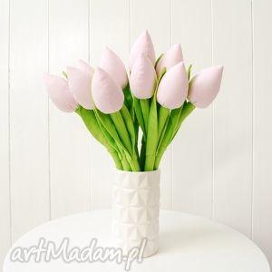 Tulipany - bukiet bawełnianych kwiatów, tulipany, bukiet, szyte, kwiaty, kwiatki