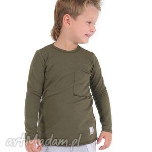 Bluzeczka khaki , bawełna, bluzka, khaki, jesień, kieszeń